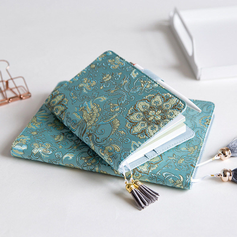 1PC A5/A6 Chinese Style Embroidery Creative notebook Bullet Diary Agenda  Aesthetic notebook planner for student school supplies