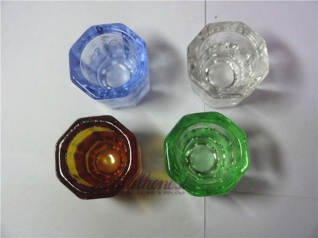 4 unids multiusos vidrio dappen plato para dental, tatuaje o spa de uñas