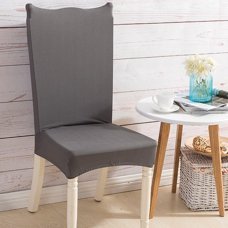Monily одноцветное Цвет спандекс стул протектор покрывает домашний Кухня анти-грязный съ ...