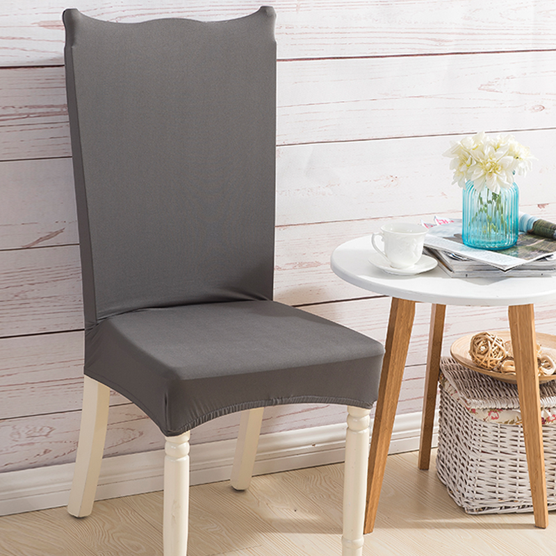 Monily Solid Color Spandex Elastic Dining Chair Protector Covers Home Kitchen Anti-dirty Removable Stretch Decor Seat Case 30