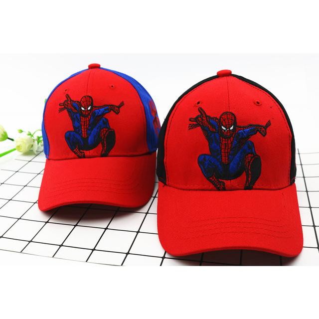 Nouveaux Enfants Casquette de Baseball de Filles Coréen Extérieure Mode De Dessin Animé Spider Baseball Chapeau Pour Enfants Garçons Fille Beau Hip-Hop cap