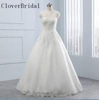 Vestido De Noiva A Line Wedding Dress Lace Sleeveless Tulle With Lace Robe De Mariee Floor