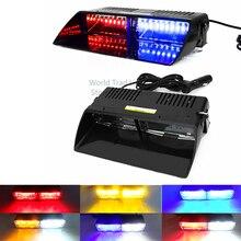 Мигалки S2viper Предупреждение 16 светодиодов высокой Мощность мигалка 48 W 18 мигающий режим дома Strobe Light Auto предупреждающий фонарь Полиция чрезвычайных голубой мигалка желтая /белый маяк мигалка полицейская