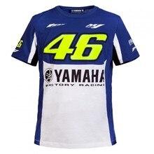 Valentino Rossi VR46 46 dual Moto GP PARA YAMAHA Monza Camiseta de Algodón Azul Blanco