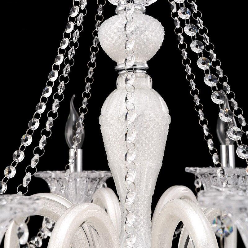 Wedding Chandelier White Crystal Chandelier Lighting For Kitchen Bedroom Living room Ceiling Decor girls room chandelier Lamp in Chandeliers from Lights Lighting