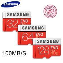 SAMSUNG-tarjeta Microsd Clase 10 U3 U1 SDXC grado EVO +, tarjeta de memoria Flash TF, 256G, 128GB, 64GB, 32GB, 16GB, 8GB, 100 Mb/s