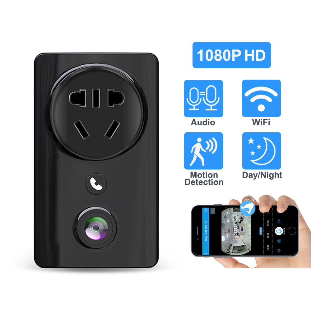 Home WiFi Camera Socket 1080P IR Night Vision Cloud Storage 180 Degree Fisheye Panoramic Security Monitor