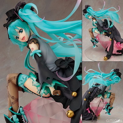 Free Shipping 8 Anime Vocaloid Hatsune Miku Diamond Ver. Boxed 20cm PVC Action Figure Collection Model Toy Gift free shipping 6 volcaloid hatsune miku with guitar ver boxed 14cm pvc action figure collection model doll toy figma 200