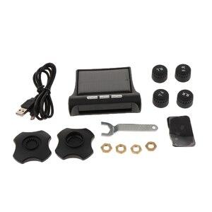 Image 5 - 1 セットスマート車 TPMS タイヤ空気圧監視システムデジタル液晶ディスプレイの警報システムタイヤ空気圧監視システム