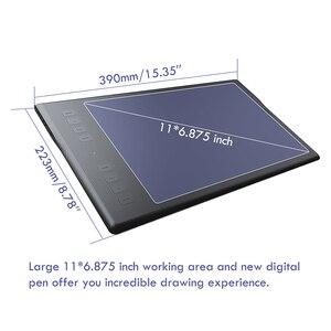 Image 3 - هويون إلهام روي Q11K اللاسلكية الرقمية لويحة الرسم البياني القلم اللوحة أقراص مع 8192 مستويات 8 مفاتيح صريحة و حامل قلم