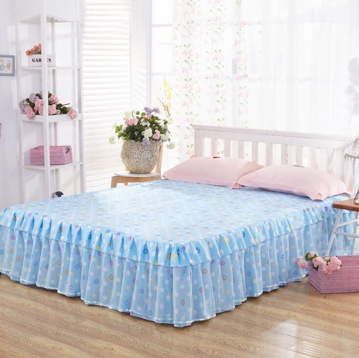 Bedspread Bed Skirt Ruffles bedding Bed sheet Cotton Pillowcase Home Decorative Twin/Queen/King Size