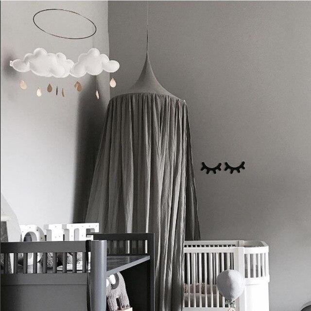 Moskitonetz Kinder Jungen Mädchen Prinzessin Baldachin Bett Volant Kinderzimmer  Dekoration Baby Bett Runde Moskitonetz Zelt Vorhänge