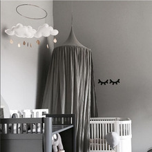 Mosquito Net Kids Boys Girls Princess Canopy Bed Valance Room Decoration Baby Round Tent Curtains