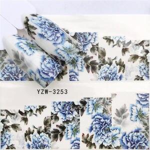 Image 3 - Fwc 1 Hoa Đen/Nhân Vật/Công Chúa Thiết Kế Chuyển Nước Miếng Dán Móng Nghệ Thuật Đề Can DIY Thời Trang Đeo Đầu dụng Cụ Làm Móng Tay