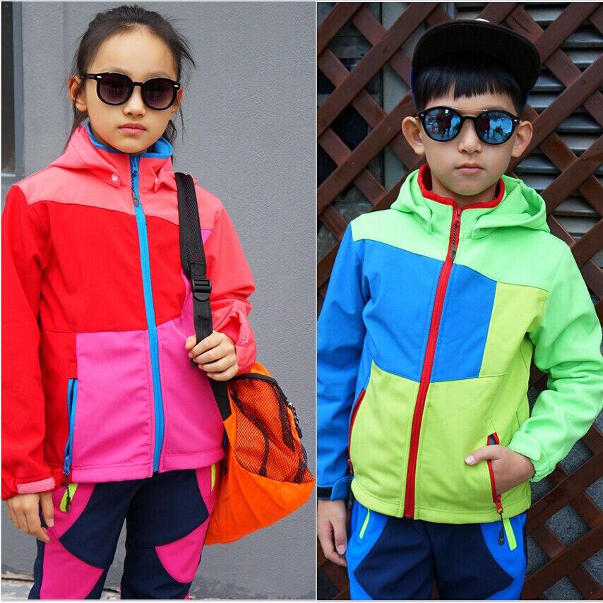 Imperméable coupe-vent garçons filles chaud enfants vêtements ensemble enfants survêtement d'extérieur pour 2-10 ans