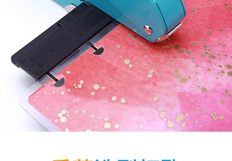 de papel t-tipo perfurador solto folha papel-corte