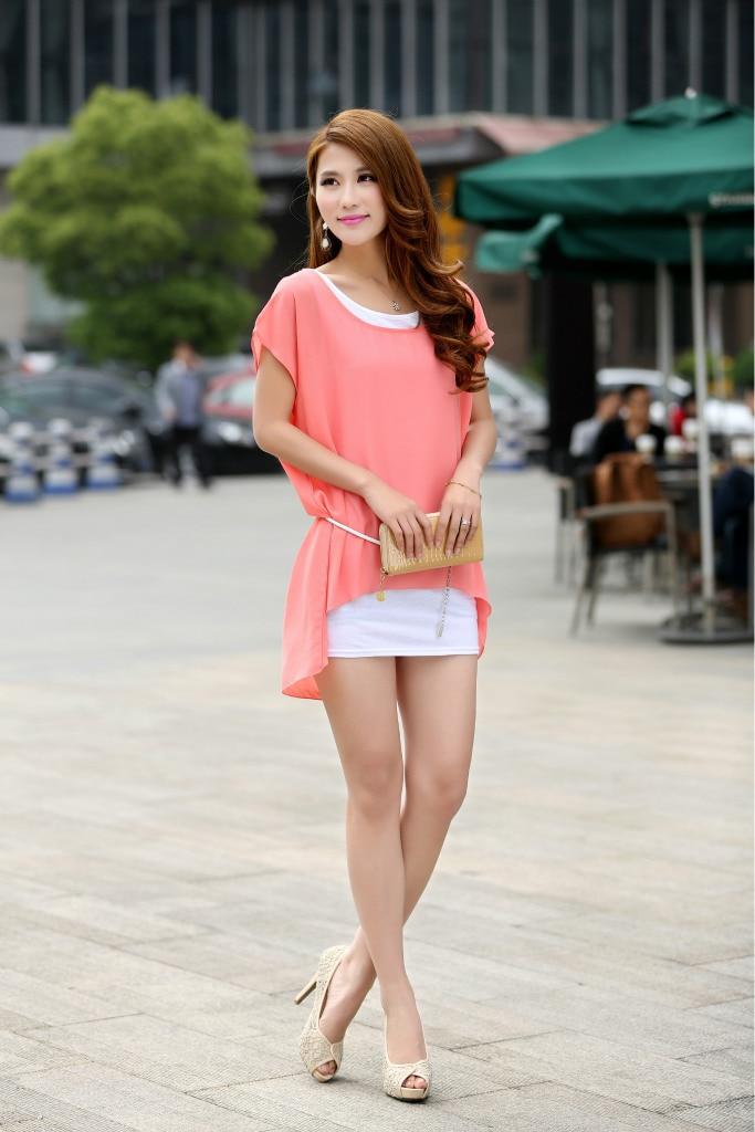 Online Shop New Summer Pink Color Korean Style Ladies Girls Large Yard Base  Dresses Chiffon Two Sets Of Women\u0027s Dress Free Shipping