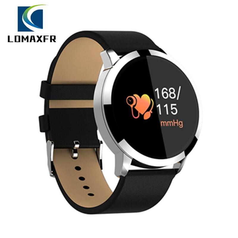 Q8 inteligente reloj de las mujeres de los hombres Bluetooth IP67 impermeable Fitness Monitor de ritmo cardíaco pulsera inteligente Smartwatch Dispositivo portátil para ios