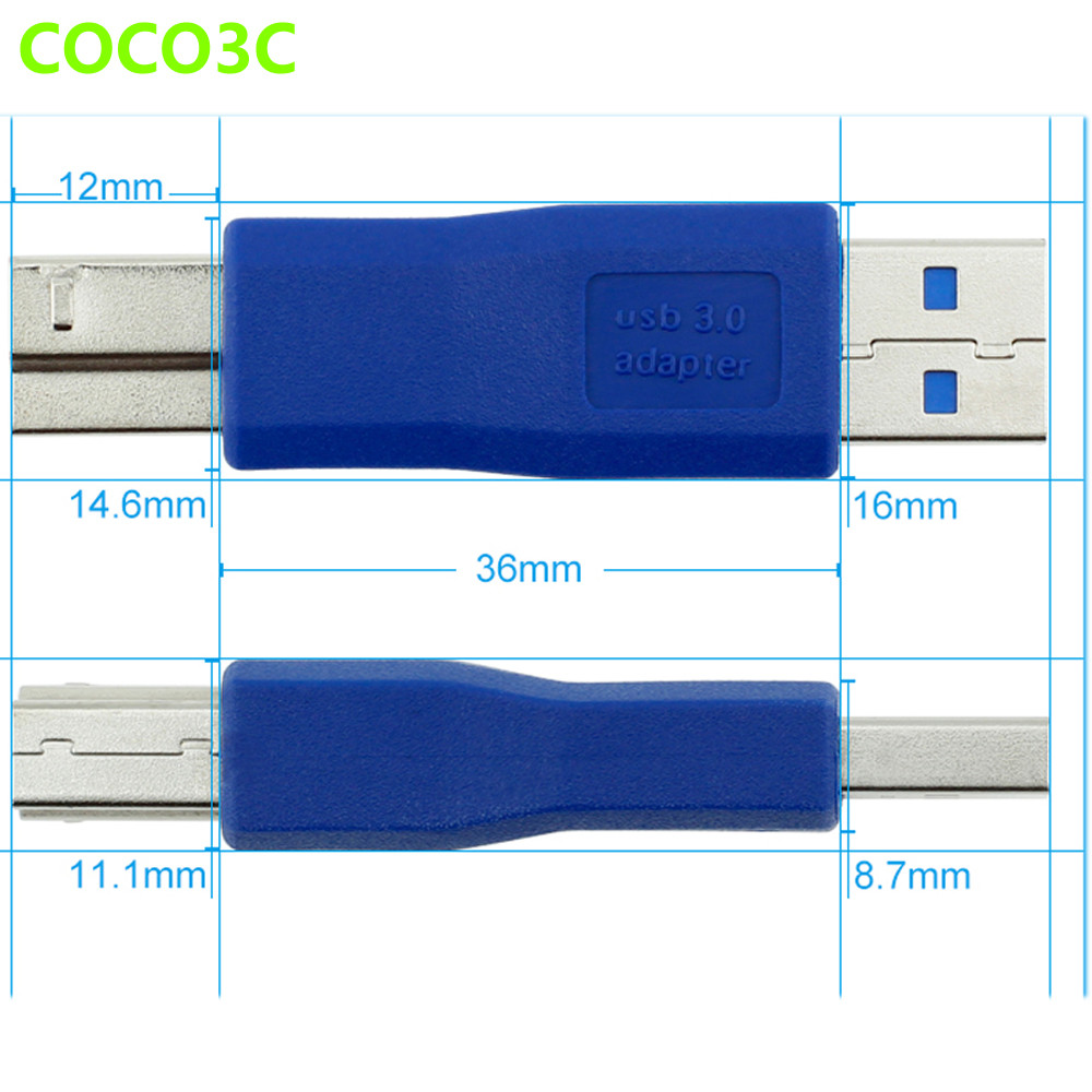small resolution of laptop 5gb s usb 3 0 a male port to usb3 0 b male card desktop usb3 0 af to printer connector data converter
