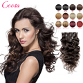 New Clip In Remy Human Hair Extensions 18 20 22 Inches Clip In Human Hair Extensions Wavy 100 Persent Human Hair  Black