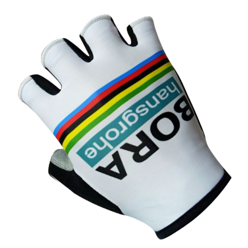 UCI 2018 Team BORA Cycling Gloves Ropa Ciclismo Quick dry Gel pad palm half finger pro bike gloves