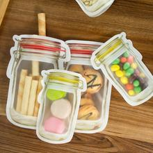 4 pcs Reusable Silicone Vacuum Food Fresh Bags Wraps Fridge Storage Containers