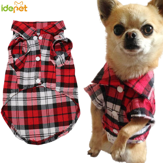 Summer Plaid Dog Vest Clothes For Small