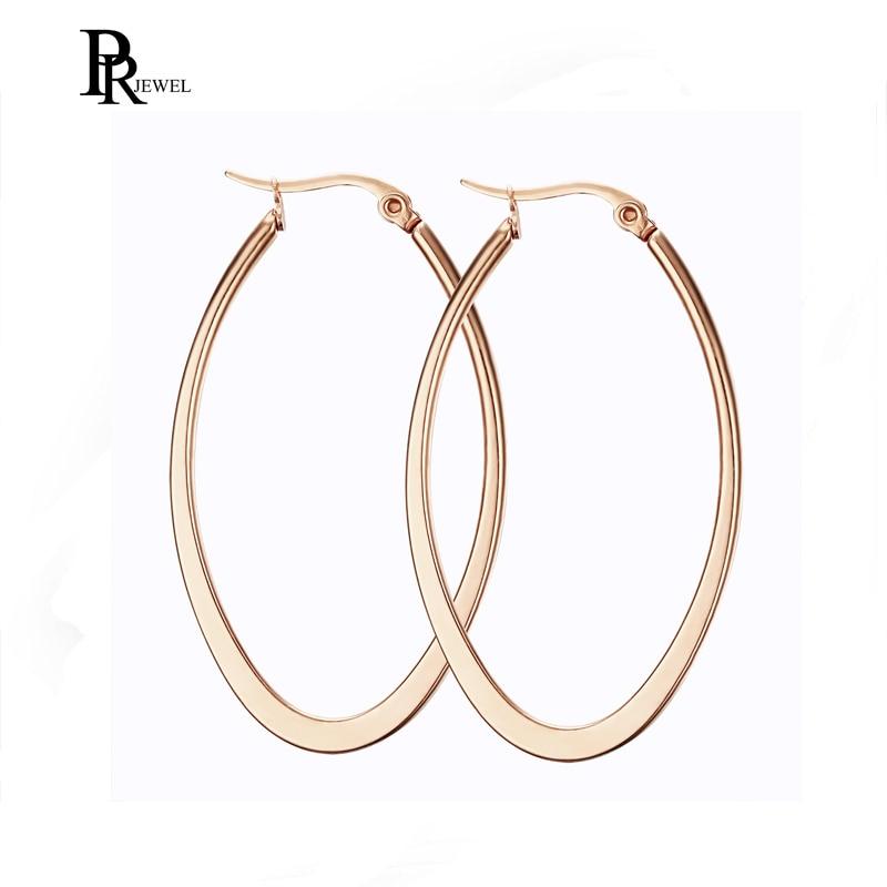Hot Sale Hoop Earrings Big Smooth Circle Earrings  Loop Earrings for Women Jewelry
