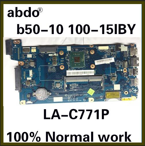 Applicable To Lenovo Ideapad 100-15IBY B50-10 Laptop Motherboard LA-C771P Motherboard CPU N2840 100% Test Work Free Shipping