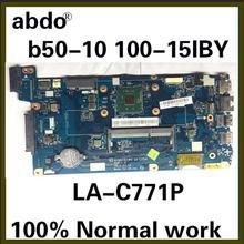 AIVP1/AIVP2 LA-C771P материнская плата подходит для lenovo B50-10 100-15IBY материнская плата для ноутбука cpu N2840 DDR3 тестовая работа