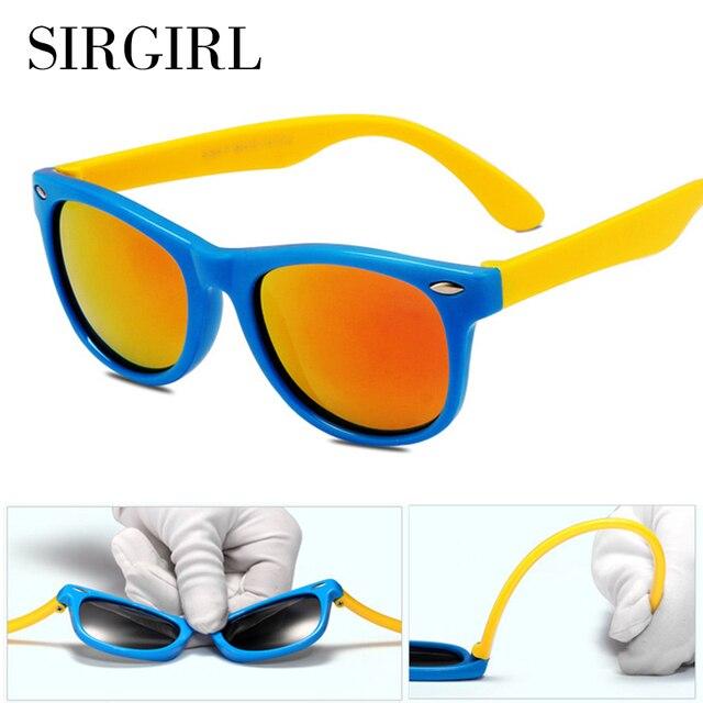 35d71c368b 2017 frame new niños tac polarizado gafas de sol de diseñador de los niños  de goma
