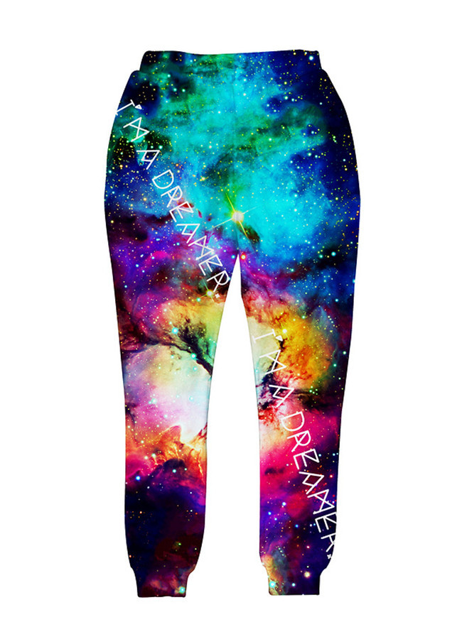 Новинка, модные спортивные штаны, штаны для бега, 3D графический принт, галактика, космос, спортивные штаны для мужчин/wo, мужские брюки в стиле хип-хоп - Цвет: A1