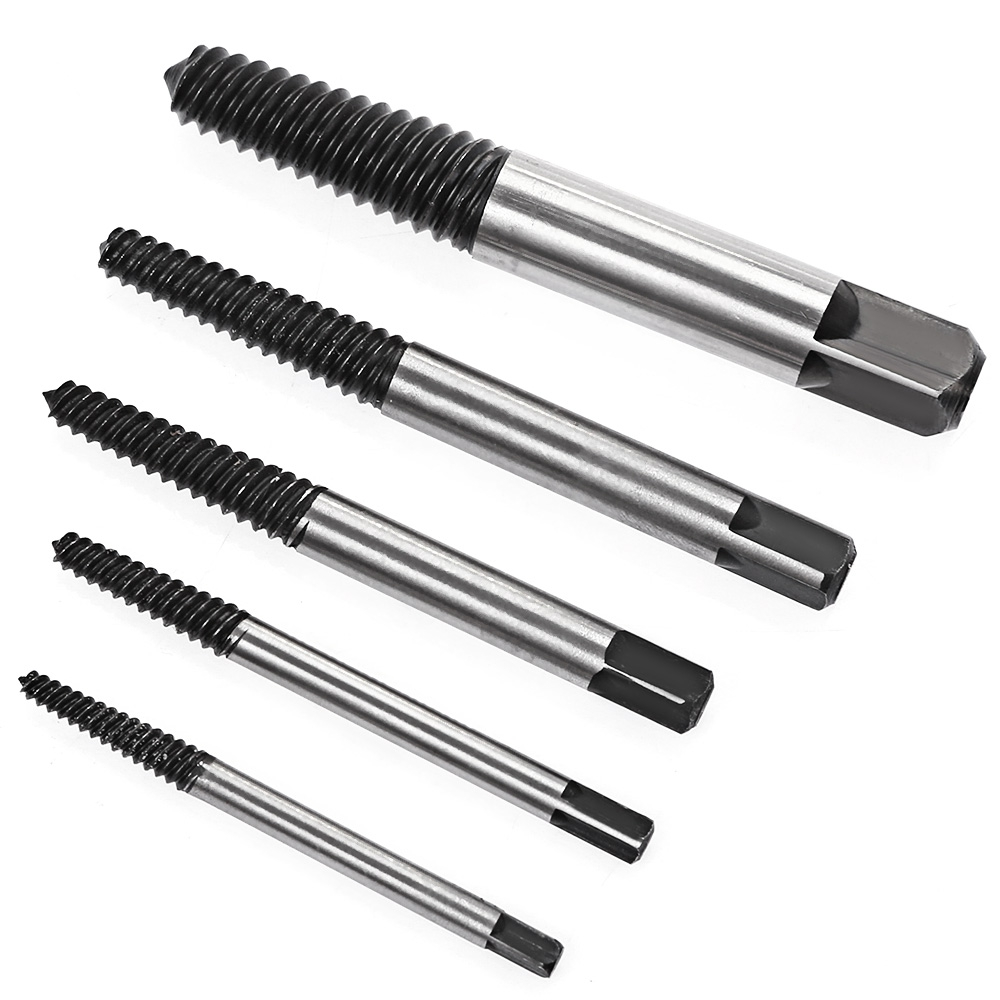 5PCS 3mm-19mm Damaged Screw Extractor Set Small Tool Remove the Screw Pipe and Bolts Have Been Damaged Hand tools Free Shipping screw extractor