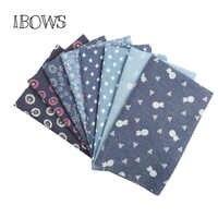 IBOWS 40*50CM Weichem Denim Stoff Waschen Baumwolle Cowboy Stoff DIY Baby Kleidung Nähen Quilt Stoff Handgemachte Taschen deraction Material