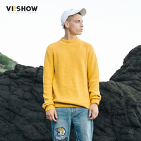 VIISHOW Winter Pullover Sweater For Men Fashion Autumn Long Sleeve Sweater Male Solid O Neck Sweater
