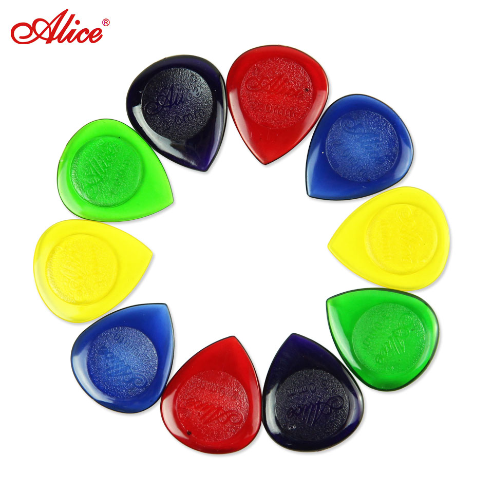 guitar picks Lots of 30pcs Alice Water Drop Heavy Durable Clear Electric Guitar Bass Guitar Picks Plectrums 1.0/2.0/3.0mm Large