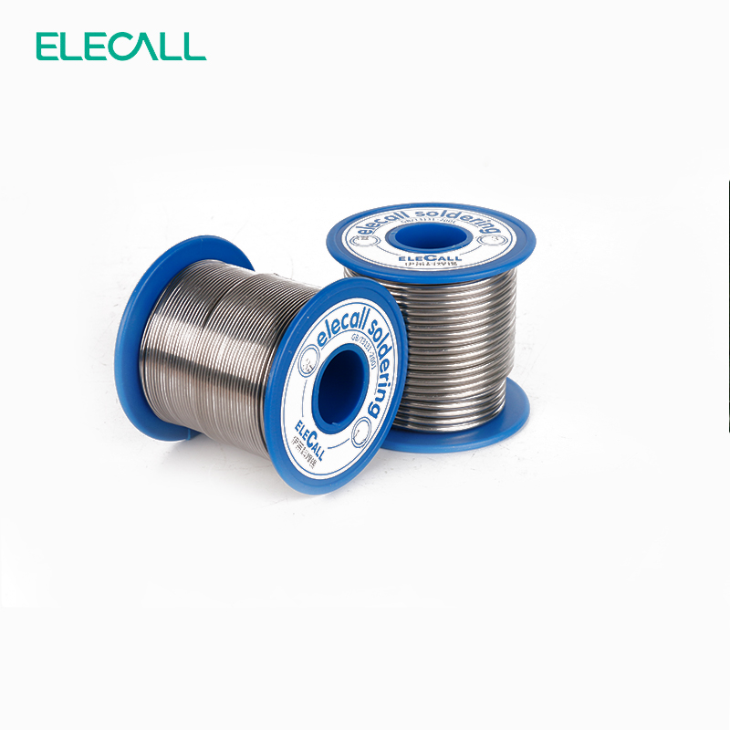 ELECALL New Arrival 41SN Pure Tin 0.8mm 450g Rosin Core Tin/Lead Rosin Roll Flux Reel Lead Melt Core Soldering Tin Solder Wire qitian b5510200g lead tin soldering wire wick roll silver