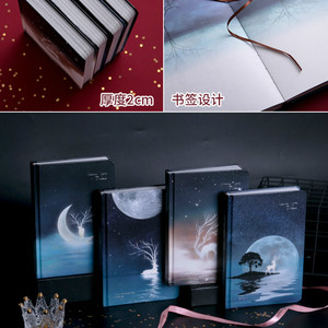 Image 4 - Cute Color Pages Diary Agenda Graffiti A5 Starry Night Notebook Sketchbook Watercolor Drawing School Diary Korea Stationery