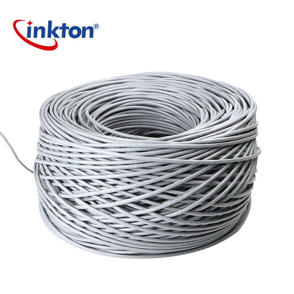 Inkton Cat5e UTP Ethernet Cable Oxyen-copper Cores Lan Cable For Engineering Unshield Wiring Cat5e Cable 100% Pure Copper 1m 20m