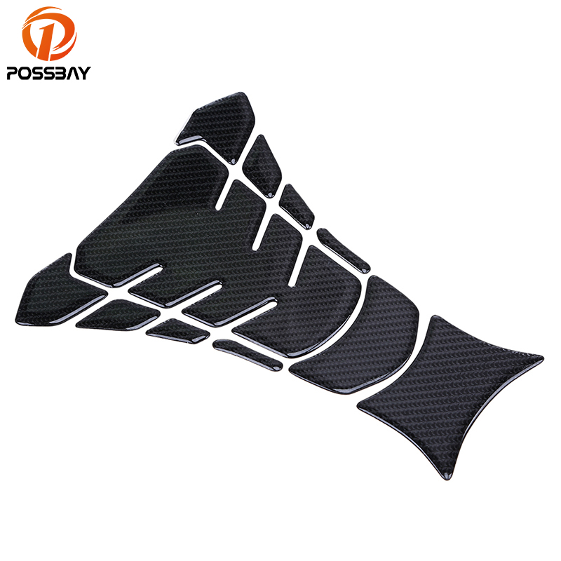 POSSBAY Carbon Fiber Motorcycle Oil Fuel Tank Sticker Scooter Decal Pad Scooter Protection Durable Fit for Yamaha Racing Bikes