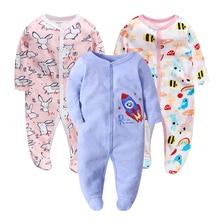 Baby Boy Girl Footies Pajamas Original Cotton Spring Sleepwear 1piece Pja Mother Nest Animal Christmas Coverall babysets