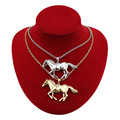 "2017 New Fashion Women Jewelry Silver/Gold Tone Jewelry Running Horse Pendant 27"" Necklace Wholesale Free Shipping EA62"