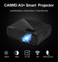 CAIWEI 1080p HD font b Android b font Bluetooth LCD LED Projector Home Theater Movie Portable