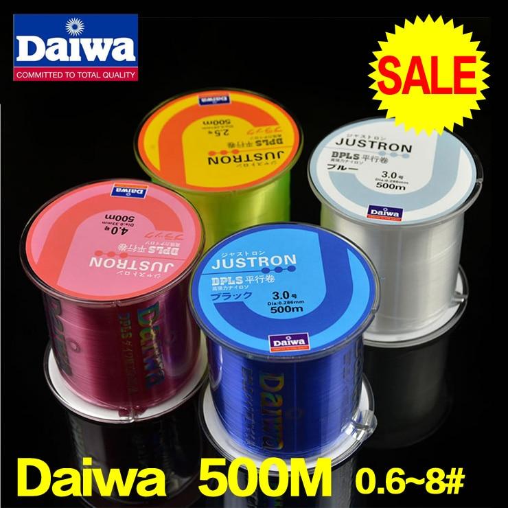 Daiwa font b fishing b font line 500m Monofilament Strong Quality Color Nylon font b Fishing