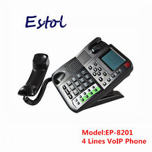 New Original Hot sale 4 SIP lines Voip phone sip ip telephone,internet phone for both business and residential users elastix