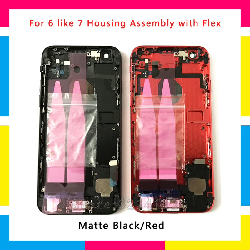 New Back Chassis Full Housing Assembly Battery Cover with Flex Cable For iphone 6 or 6S like 7 6 plus or 6S plus like 7 plusNew Back Chassis Full Housing Assembly Battery Cover with Flex Cable For iphone 6 or 6S like 7 6 plus or 6S plus like 7 plus