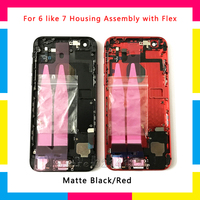 New Back Chassis Full Housing Assembly Battery Cover with Flex Cable For iphone 6 or 6S like 7 6 plus or 6S plus like 7 plus