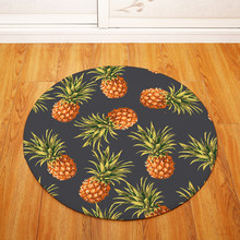 Pineapple Pattern Round Carpet Kids Play Tent Gym Rug Bedroom Living Room Coffee Table Floor Mats /Baby Crawling Carpets(China)