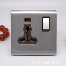 Multifunctional Socket With Lamp Outlet British AC 110~250V