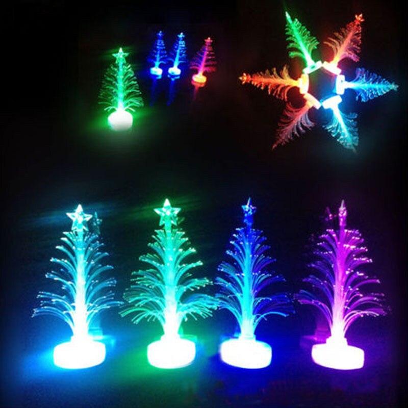colorido led de fibra ptica luz nocturna lmpara de luz del rbol de navidad los nios